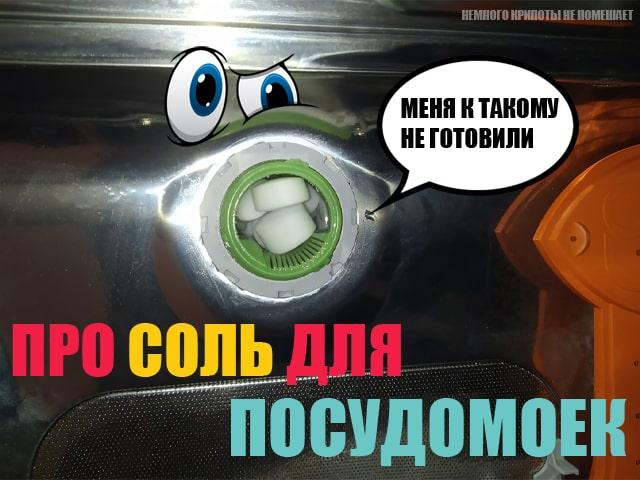 Таблетированная соль в посудомойку? Почему бы и да!
